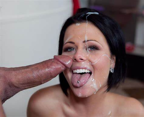 She Cumshot From His Tounge Spunk On Her Mouth