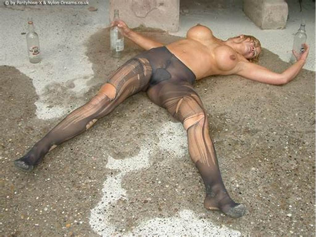 #Drunken #Slut #In #Destroyed #Pantyhose