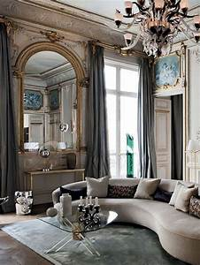 stunning salon moderne baroque gallery awesome interior With tapis moderne avec vintage canape