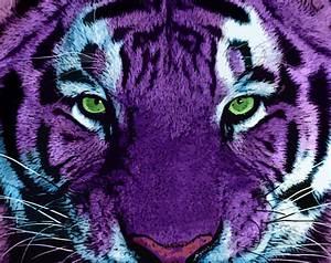 Purple Tiger Print Wallpaper