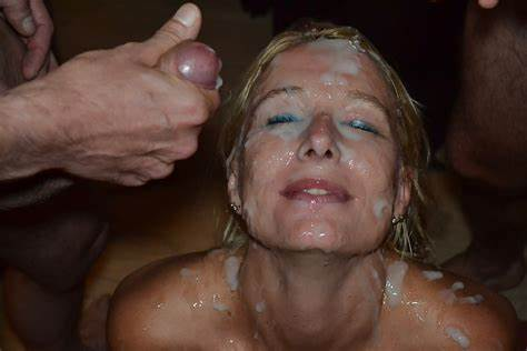 Mature Bukkaked In Blowbang