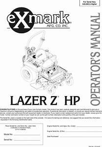 Exmark Lazer Zhp Users Manual 103 9182