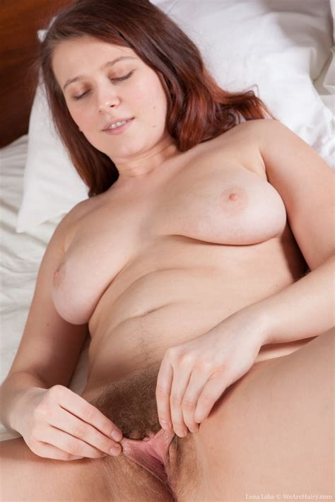 Lena Lake Strips Naked On Bed To Masturbate