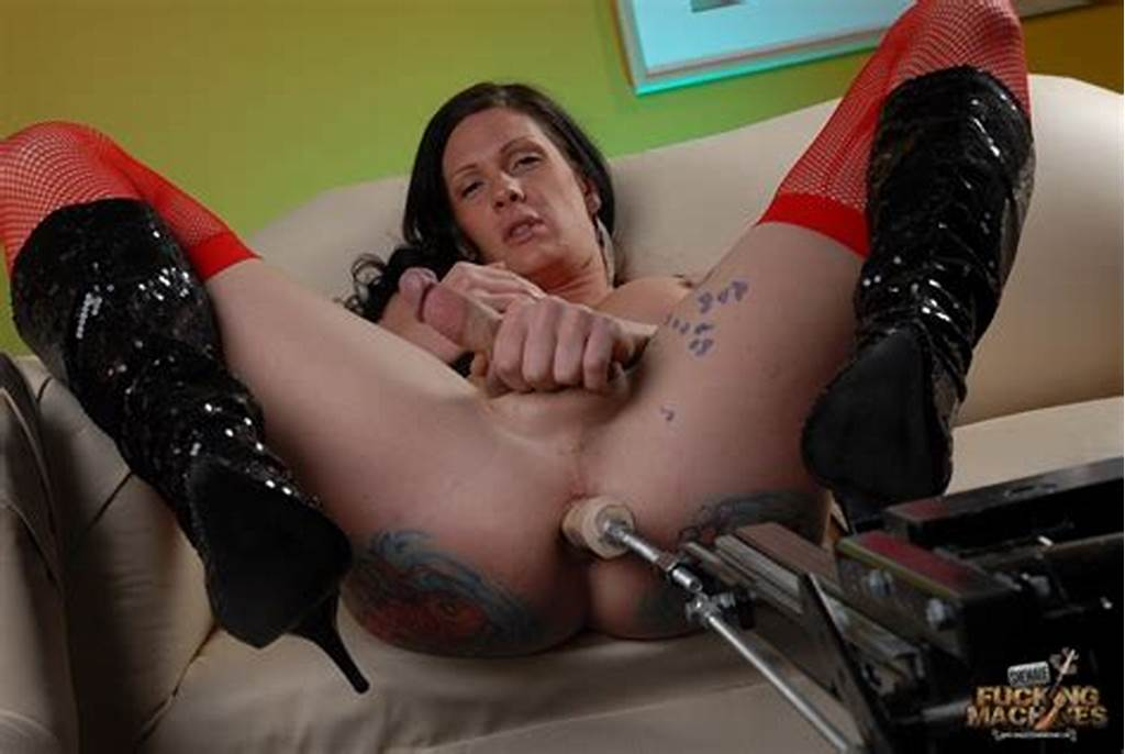 #Shemale #Anal #Violated #By #Sex #Machine