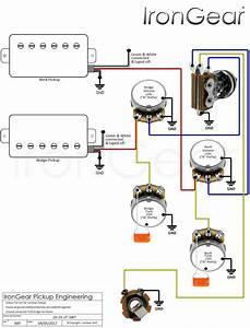 Bass Humbucker 2 Vol 2 Tone Wiring Diagram