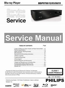 Philips Bdp9700 Blu Ray Player Service Manual And Repair