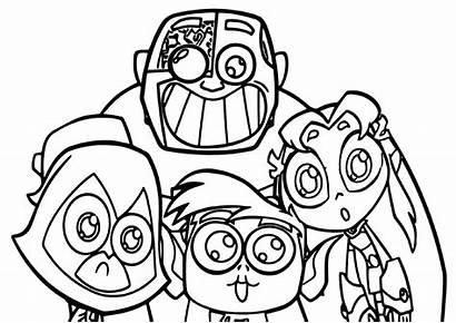 Coloring Teen Titans Cartoon Teentitans