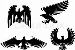 Eagle Symbol Isolated On White For Design