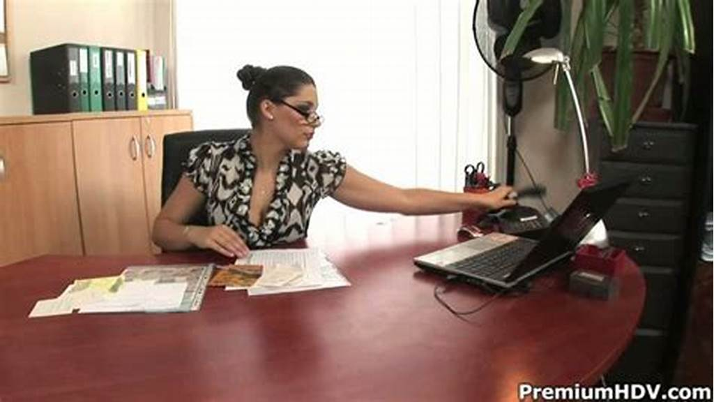 #Horny #Boss #Calls #Her #Secretary #To #Have #Steamy #Lesbian #Sex