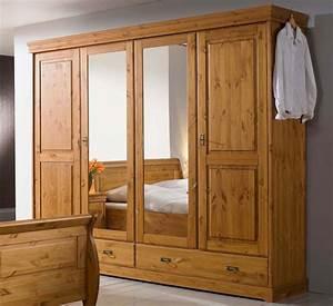 Kleiderschrank Aus Holz : massivholz kleiderschrank 4t rig kiefer massiv holz schrank honig ~ A.2002-acura-tl-radio.info Haus und Dekorationen