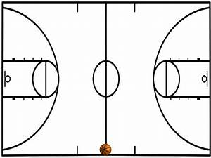Basketball Court Diagram Simple