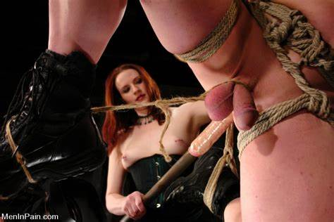 Stunning Dominatrix Grips A Guys Ball Mistress Dominate One