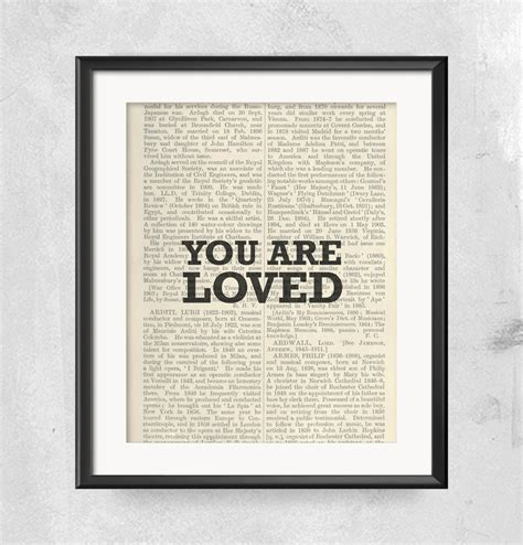 No, they're not expensive at all or have anything of value in them but they do. You Are Loved, Love Print, Love Wall Decor, Gift for Wife ...