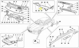 Maserati Quattroporte Qp7 Rear Central Covering 68473800