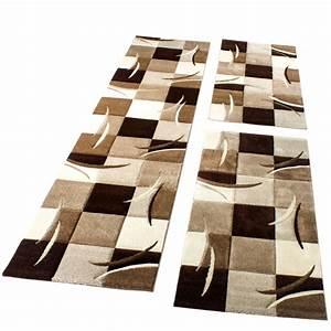 Teppich Laeufer Modern : bettumrandung l ufer teppich modern karo braun creme beige ~ Michelbontemps.com Haus und Dekorationen