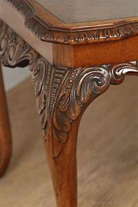 English Queen Anne Style Burr Walnut Coffee Table ...