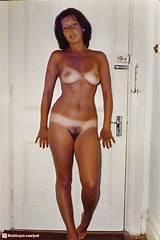 Line nude tan woman
