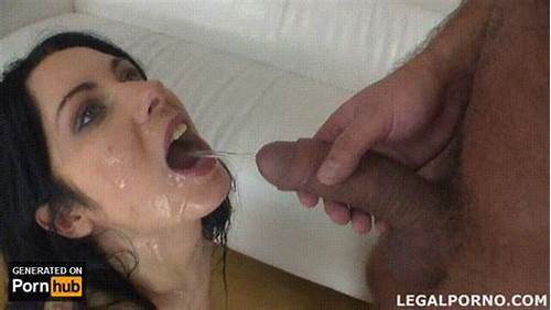 Legal Age Teenager Bitch Masturbating And Swallows
