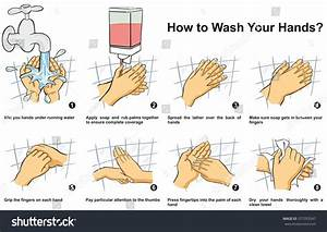 How Wash Clean Your Hand Step Stock Vector 577353547