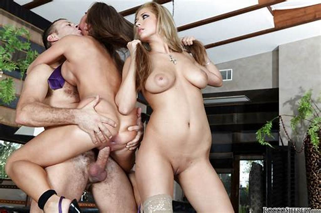 #Loveable #Gals #On #High #Heels #Are #Into #Threesome #With #Rocco