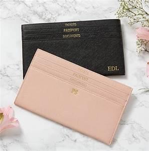 personalised leather slim travel document wallet by magpie With personalised document wallet