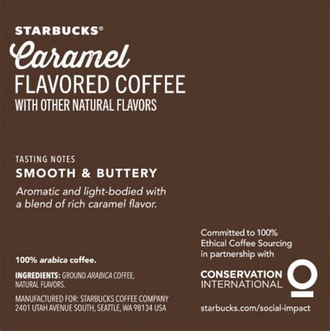 The starbucks medium roast beans balanced with luscious caramel notes create a treat you can savor and share. Ralphs - Starbucks Caramel Flavored Ground Coffee K-Cup ...