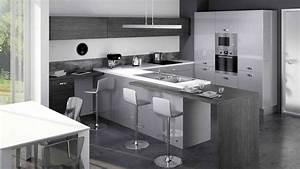 cuisine quipe design et moderne ou sur mesure cuisine With idee deco cuisine avec prix cuisine Équipée sur mesure