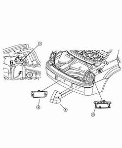 2007 Dodge Magnum Srt8 Srt8 6 1l Hemi Srt V8 Lamp  Licence