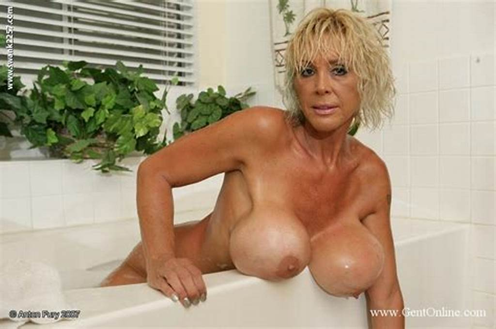 #Mature #Blonde #Babe #Burbank #Bombshell #Plays #With #Her #Boobs