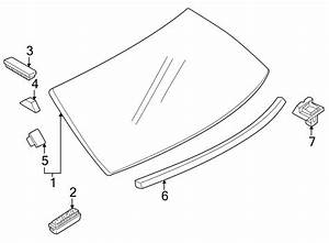 Mazda Protege Glass  Fastener  Quarter  Panel Clip  Back