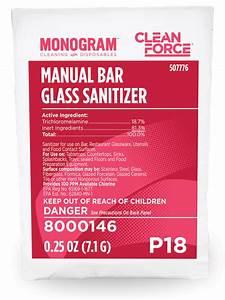 Monogram Clean Force Manual Bar Glass Sanitizer