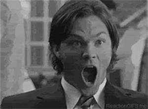 Supernatural mouth open gif Sean and Sam #ReactionGifs
