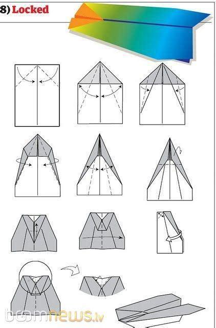 Kā uztaisīt papīra lidmašīnu 12 dažādos veidos. - Spoki