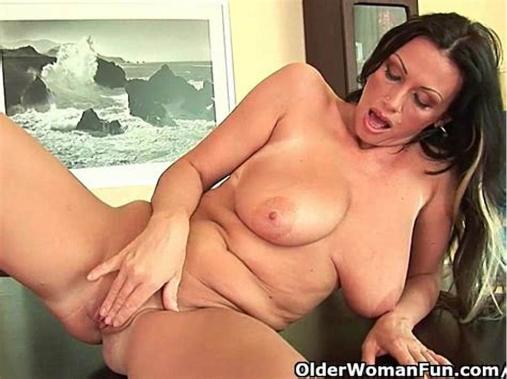 #Soccer #Mom #With #Heavy #Boobs #Is #Dildoing #Her #Mature #Pussy