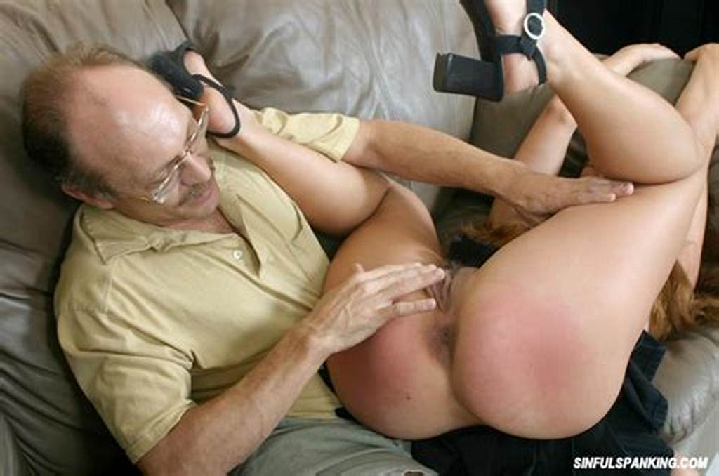 #Old #Man #Spanking #Busty #Babe #2994