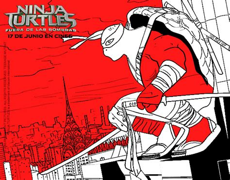 Dibujo de Leonardo de Ninja Turtles pintado por en Dibujos