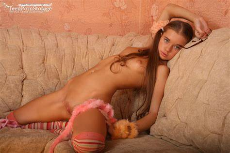 Pigtailed Girl Sheryse Strips Off Her