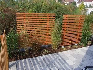 Terrasse Holz Bauen : mobiler sichtschutz garten selber bauen wiiwohn best ~ Michelbontemps.com Haus und Dekorationen
