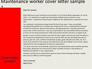 Maintenance Worker Resume Maintenance Worker Cover Letter