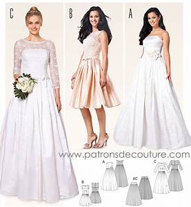 Patron burda 6776 for Patron de robe de mariée