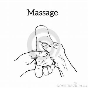 Therapeutic Manual Massage  Medical Therapy Stock Vector