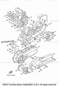 Yamaha Scooter 2009 Oem Parts Diagram For Crankcase