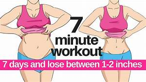 7 Minute Workout To Lose Belly Fat - Home Workout To Lose Inches