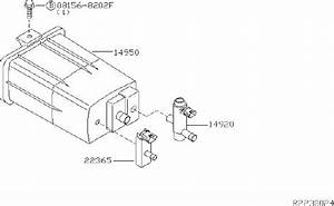 Nissan Armada Vapor Canister Purge Solenoid Bracket  Piping  Rear  Vacuum