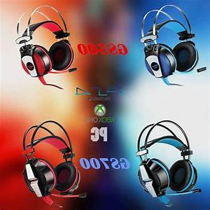 Each Gaming Headset Ps4 Xbox One Headphone 3 5mm