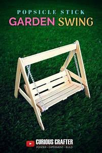 Popsicle Stick Garden Bench Swing  Step