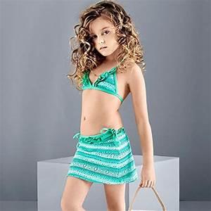 Balneaire Little Big Girls Bikini Swimsuit 3 Pieces Kids