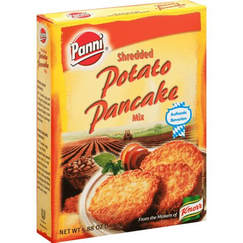 But even without that bacon fat, these are still good on their own, with a dollop of sour cream. Panni Pancake Mix, Shredded Potato | Buehler's