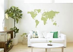 Carte Du Monde Sticker : carte du monde 18 couleurs au choix stickers de bureau ~ Dode.kayakingforconservation.com Idées de Décoration