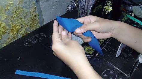 Lingkar pinggang = diukur sekeliling pinggang. Cara menjahit kolong ikat pinggang celana atau rok - YouTube